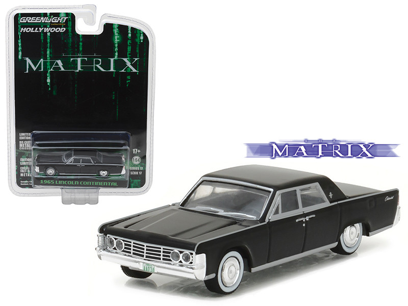 "1965 Lincoln Continental \The Matrix"" Movie (1999) Hollywood Series 17 1/64 Diecast Model Car by Greenlight"""""""