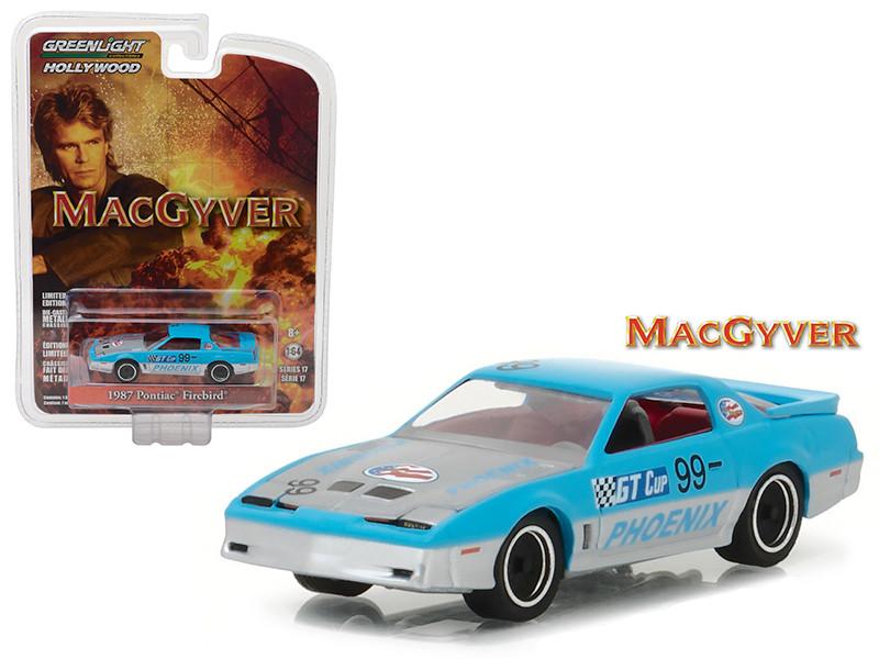 1987 Pontiac Firebird MacGyver 1985-1992 TV Series Hollywood Series 17 1/64 Diecast Model Car Greenlight 44770 D