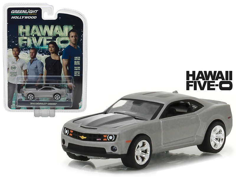 2010 Chevrolet Camaro Grey Hawaii Five-0 2010-Current TV Series Hollywood Series 17 1/64 Diecast Model Car Greenlight 44770 F