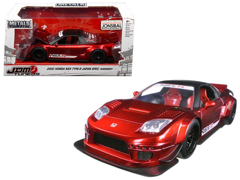 2002 Honda NSX Type-R Japan Spec Candy Red Widebody JDM Tuners 1/24 Diecast Model Car Jada 99068