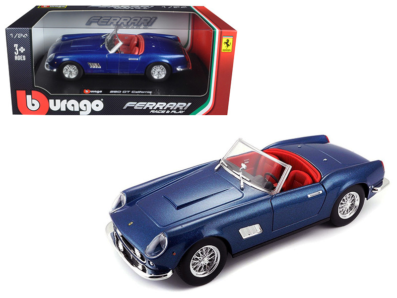 Ferrari 250 GT California Spider Blue 1/24 Diecast Model Car Bburago 26020