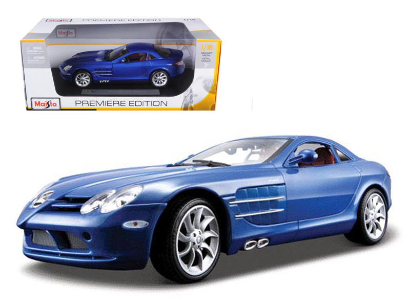 Mercedes Mclaren SLR Blue 1/18 Diecast Model Car by Maisto