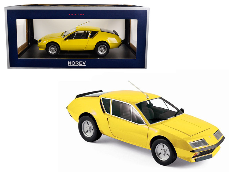 1977 Renault Alpine A310 Yellow 1/18 Diecast Model Car by Norev