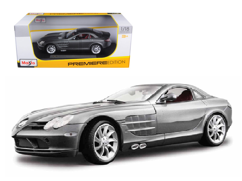 Mercedes Mclaren SLR Grey 1/18 Diecast Model Car by Maisto