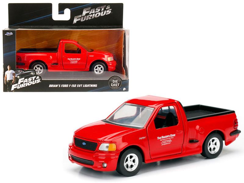 Brian's 1999 Ford F-150 SVT Lightning Red Fast & Furious Movie 1/32 Diecast Model Car Jada 98320