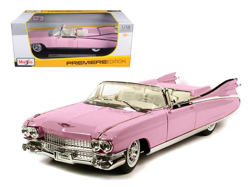 1959 Cadillac Eldorado Biarritz Pink 1/18 Diecast Model Car by Maisto