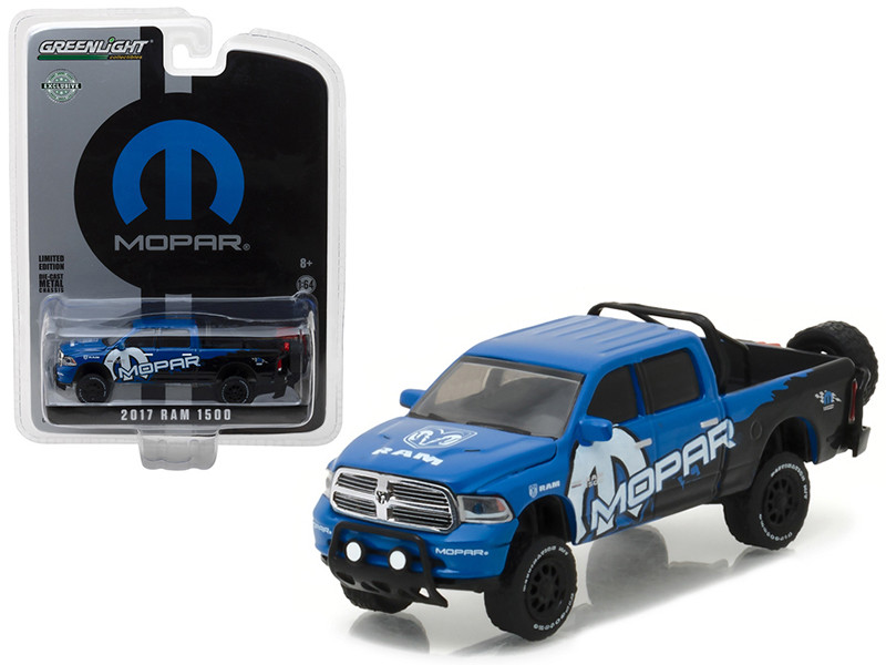 2017 Dodge Ram 1500 Pickup Truck MOPAR Off-Road Edition Hobby Exclusive 1/64 Diecast Model Car Greenlight 29887