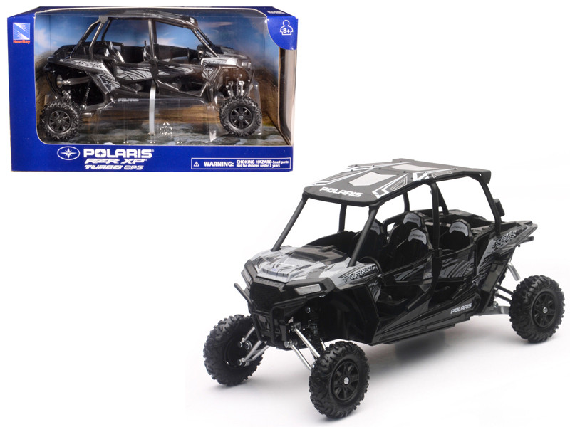 Polaris RZR XP 4 Turbo EPS 4 Seater Titanium Matt Metallic 1/18 Model New Ray 57843 C