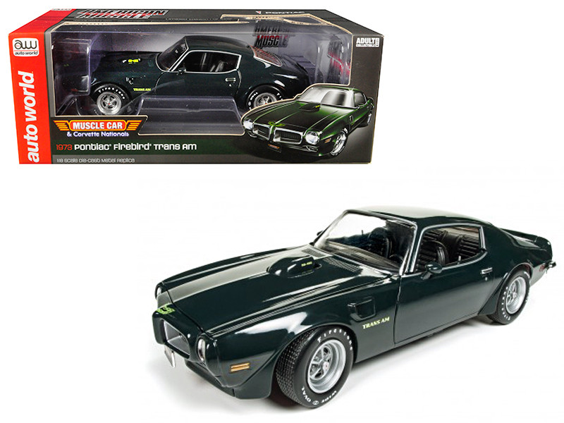 1973 Pontiac Firebird Trans Am MCACN Green Limited Edition to 1002pc 1/18 Diecast Model Car Autoworld AMM1109