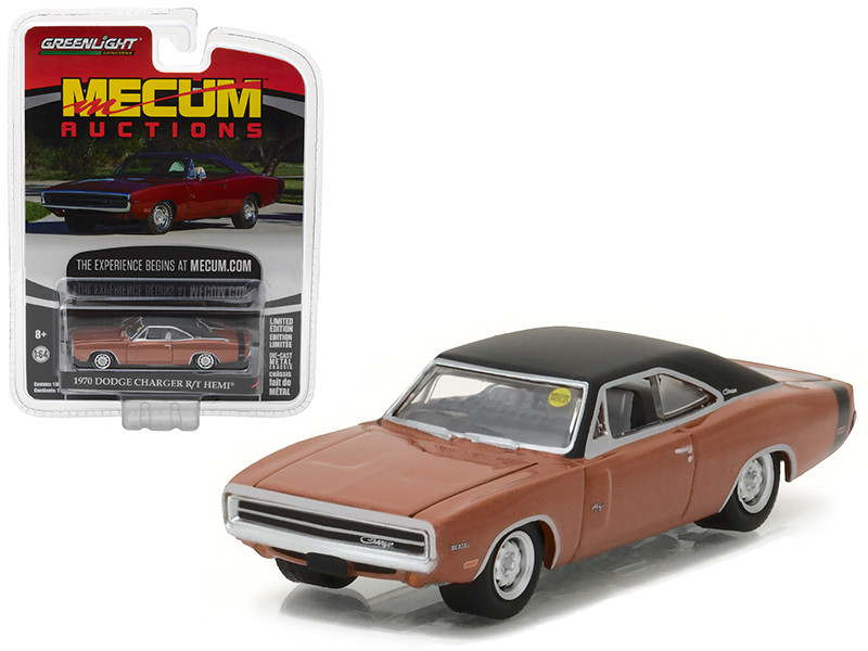 1970 Dodge Charger R/T HEMI Dark Burnt Orange Mecum Auctions Collector Series 1 1/64 Diecast Model Car Greenlight 37110 C
