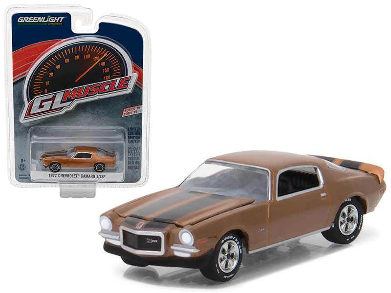 1972 Chevrolet Camaro Z/28 Mojave Gold Greenlight Muscle Series 19 1/64 Diecast Model Car Greenlight 13190 D
