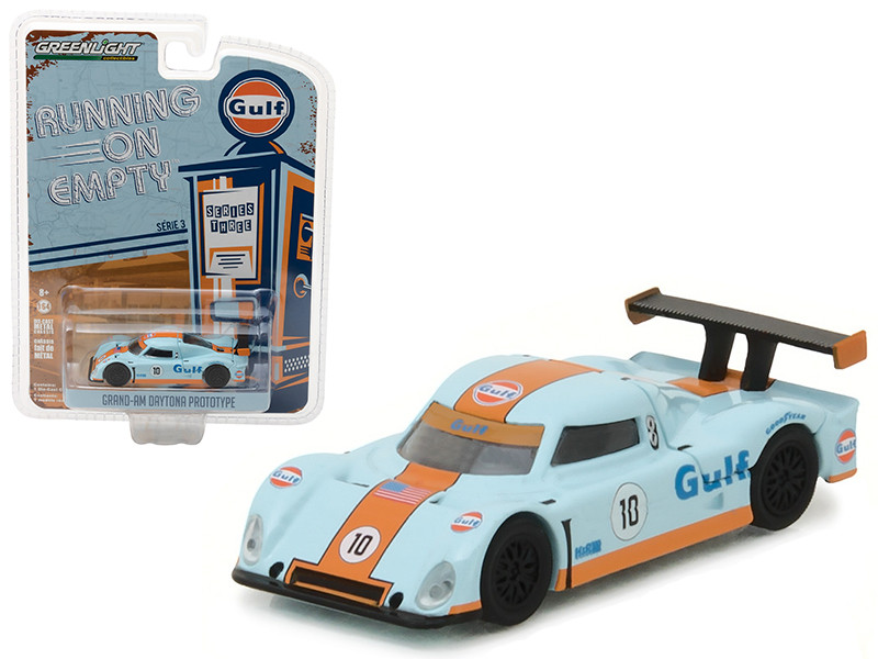 "Grand-Am Daytona Prototype Gulf Oil #10 \Running on Empty\"" Series 3 1/64 Diecast Model Car by Greenlight"""""""