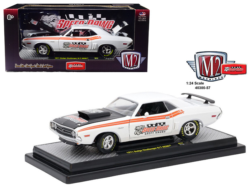 1971 Dodge Challenger R/T Hemi Speed Dawg Shift Know 1/24 Diecast Model Car M2 Machines 40300-57 B