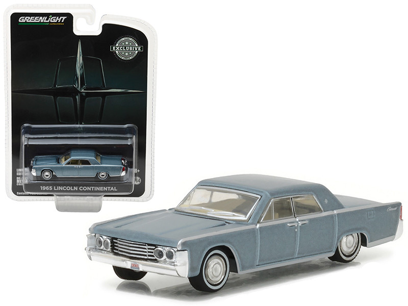 1965 Lincoln Continental Madison Gray Metallic \'Hobby Exclusive\ 1/64 Diecast Model Car by Greenlight""