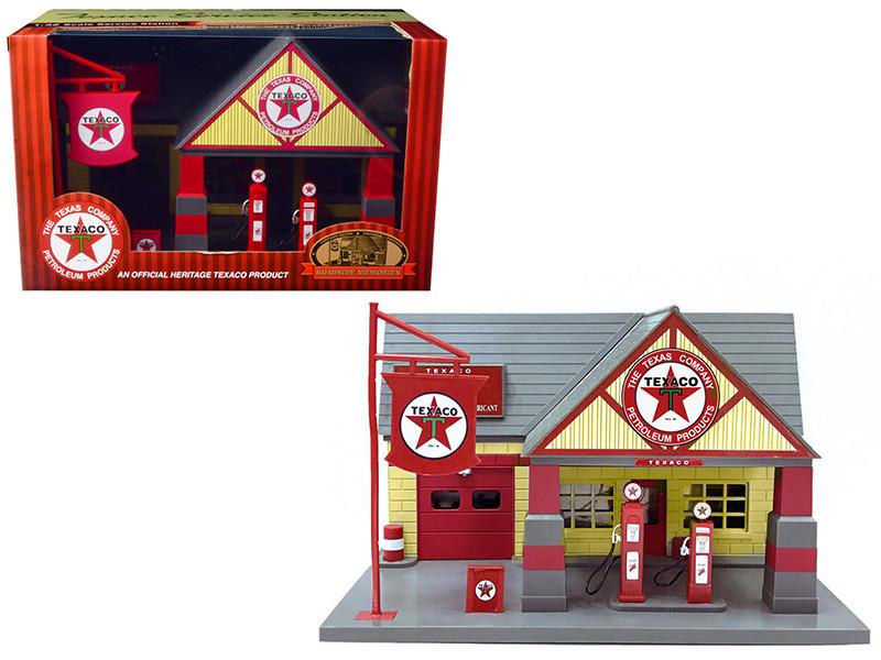 Texaco 1940 Service Gas Station Diorama 1/32 Beyond Infinity 0650 A
