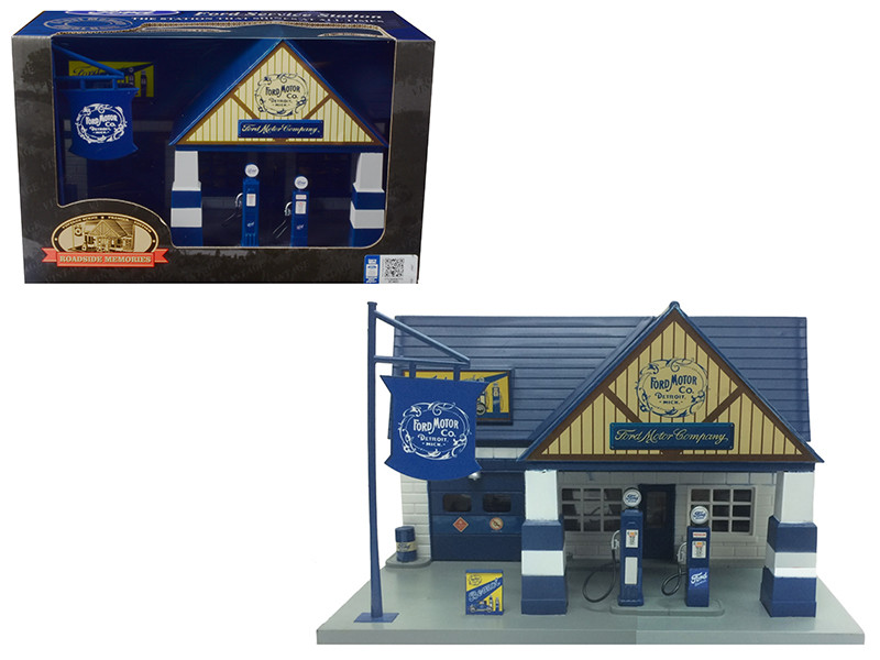 Ford 1940 Service Gas Station Diorama 1/32 Beyond Infinity 0652 A