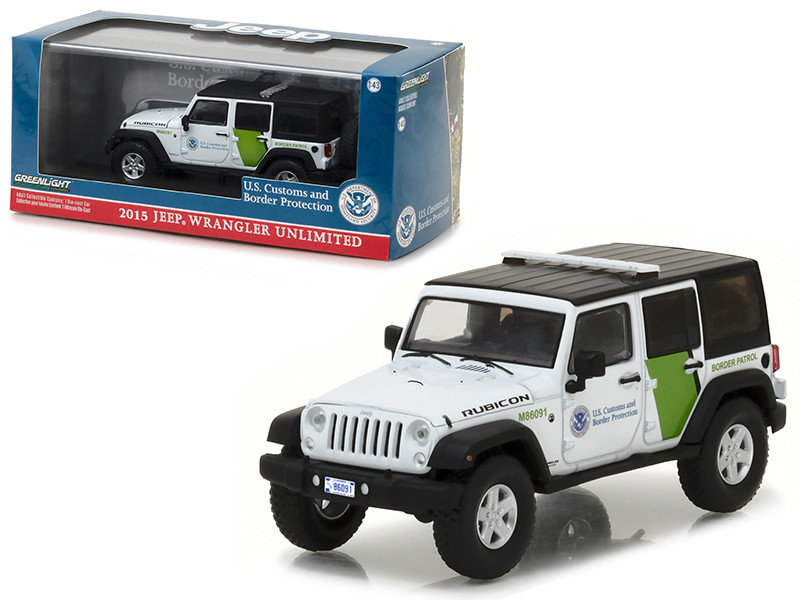2015 Jeep Wrangler Unlimited US Customs and Border Protection 1/43 Diecast Model Car Greenlight 86091