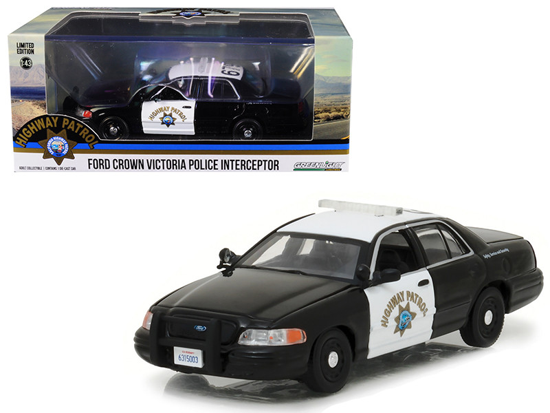 Ford Crown Victoria Police Interceptor Car California Highway Patrol CHP 1/43 Diecast Model Car Greenlight 86086