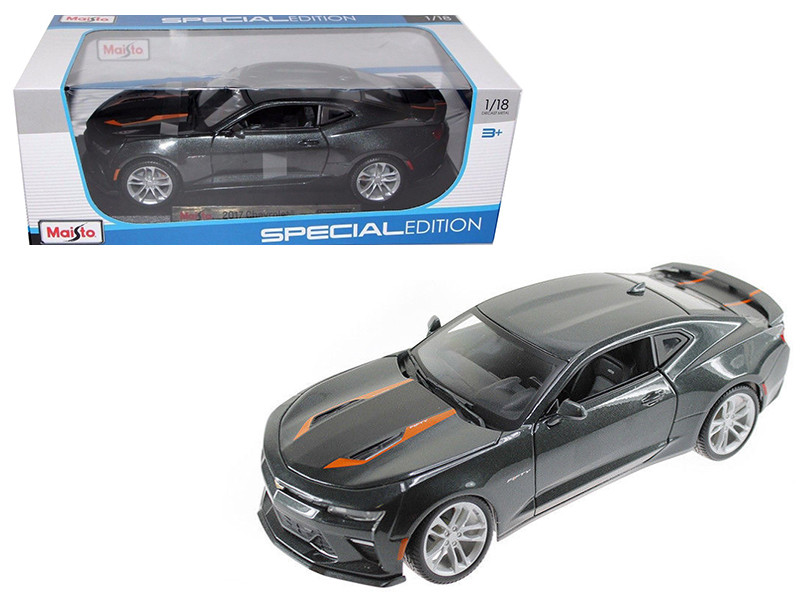 2017 Chevrolet Camaro SS Fifty 50th Anniversary Metallic Grey 1/18 Diecast Model Car Maisto 31385