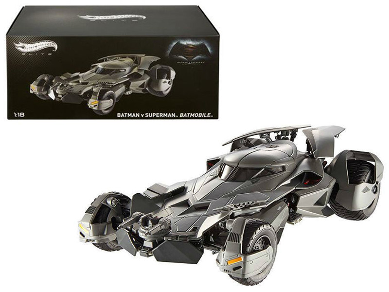Dawn of Justice Batmobile From Batman vs Superman Movie Elite Edition 1/18 Diecast Model Car Hotwheels CMC89