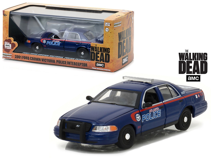 2001 Ford Crown Victoria Atlanta Police Interceptor The Walking Dead 2010-Current TV Series 1/43 Diecast Model Car Greenlight 86510
