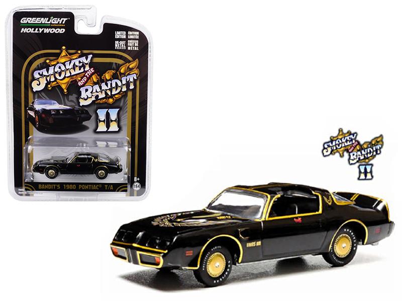 1980 Pontiac Firebird Trans Am from Smokey and the Bandit 2 Movie 1/64 Diecast Model Car Greenlight 44710 B