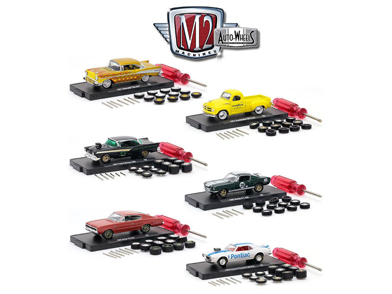 Auto Wheels 6 Cars Set Release 6 IN BLISTER PACKS 1/64 Diecast Model Cars M2 Machines 34001-06