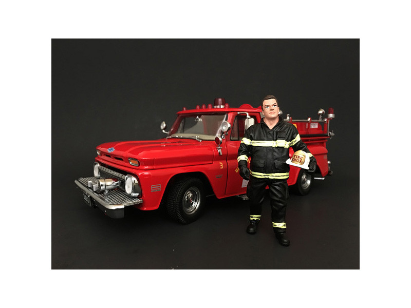 Firefighter Fire Chief Figurine Figure For 1:24 Models American Diorama 77509