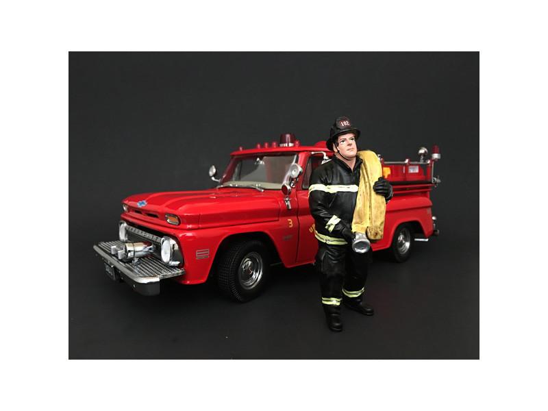 Firefighter Job Done Figurine Figure For 1:24 Models American Diorama 77512