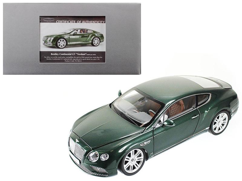 2016 Bentley Continental GT LHD Verdant Green 1/18 Diecast Model Car Paragon 98222