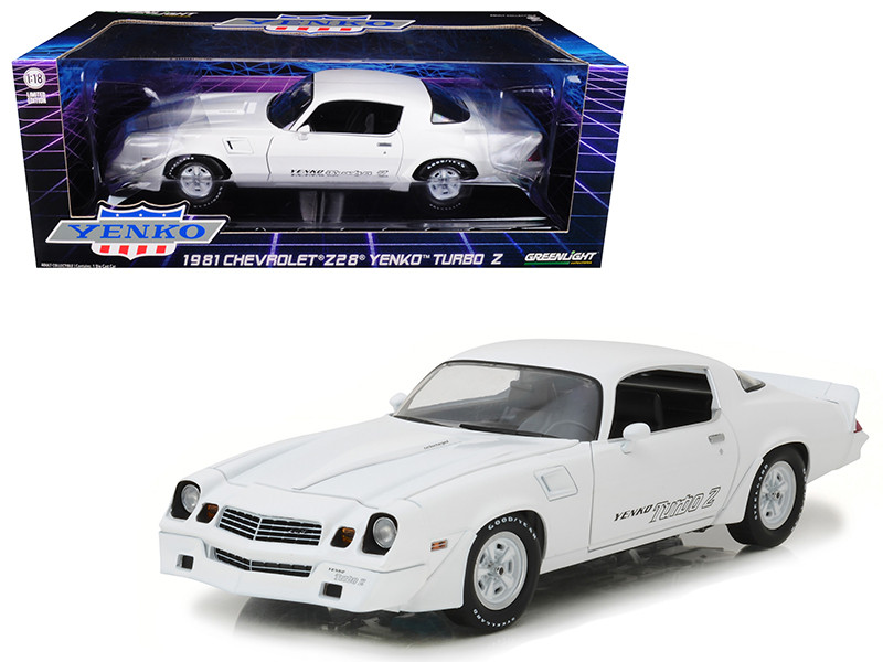 1981 Chevrolet Camaro Z/28 Yenko Turbo Z White 1/18 Diecast Model Car Greenlight 12998