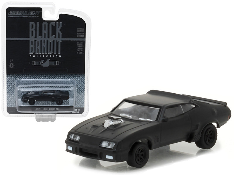 1973 Ford Falcon XB Black Bandit 1/64 Diecast Model Car Greenlight 27930 A