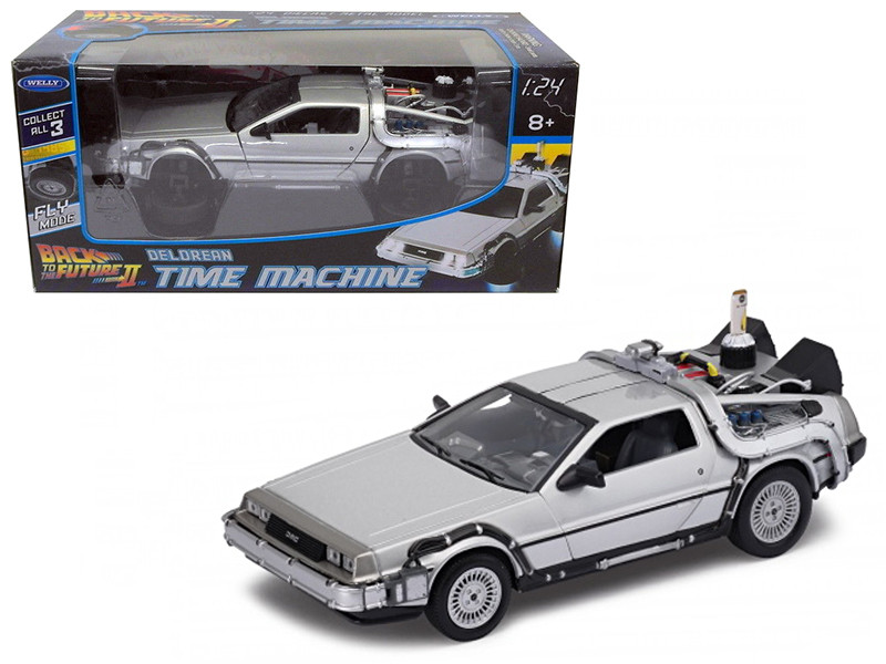 Delorean from movie Back To The Future 2 Flying Version 1/24 Diecast Car Model Welly 22441 FV W