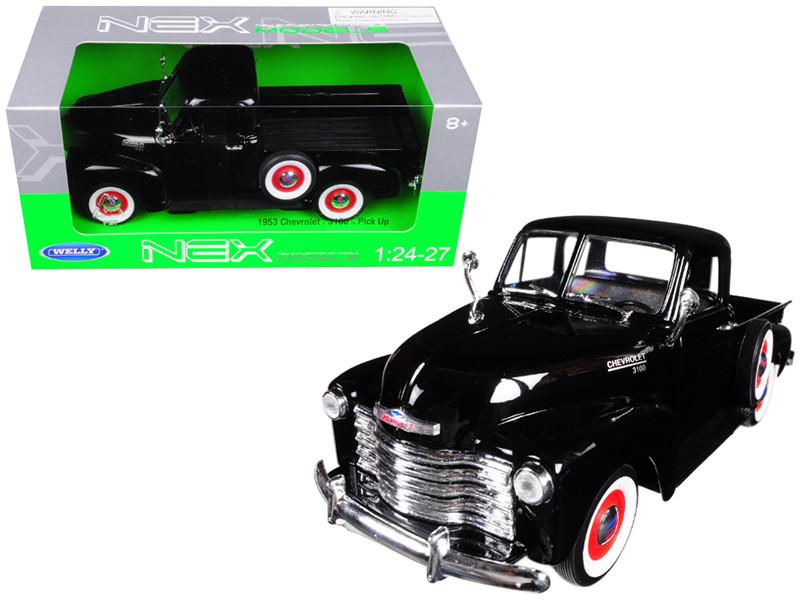 1953 Chevrolet 3100 Pick Up Truck Black 1/24 1/27 Diecast Model Car Welly 22087