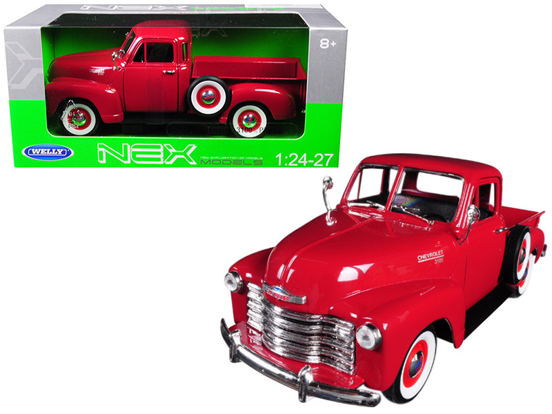 1953 Chevrolet 3100 Pick Up Truck Red 1/24 1/27 Diecast Model Car Welly 22087