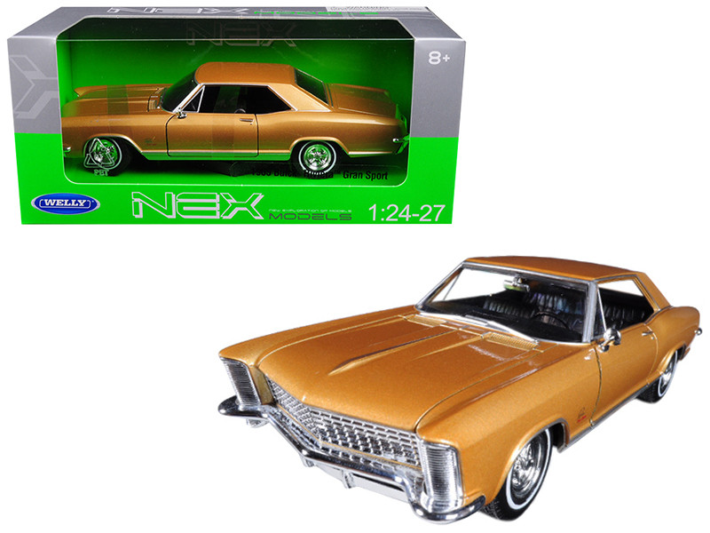 1965 Buick Riviera Gran Sport Gold 1/24 1/27 Diecast Model Car Welly 24072