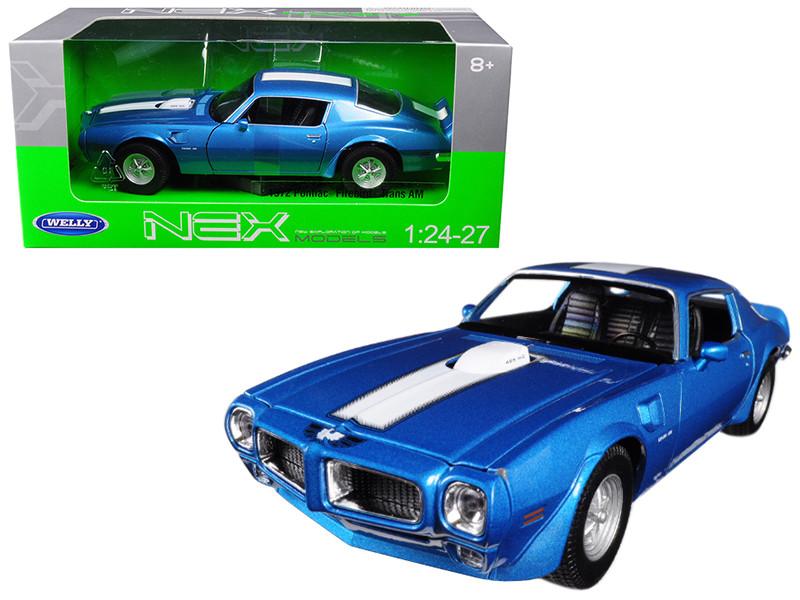 1972 Pontiac Firebird Trans Am Blue 1/24 1/27 Diecast Model Car Welly 24075