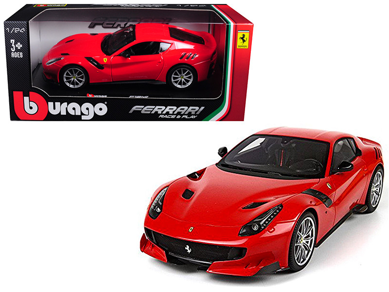 Ferrari F12 TDF Red 1/24 Diecast Model Car Bburago 26021