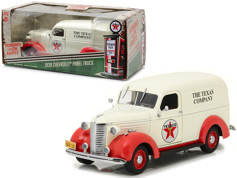 1939 Chevrolet Panel Truck Texaco Running on Empty Series 1/24 Diecast Model Car Greenlight 18238