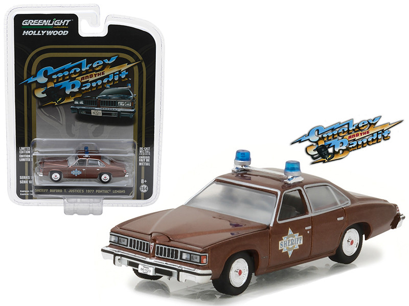 Sheriff Buford T Justice's 1977 Pontiac Lemans Smokey and the Bandit Movie 1977 Hollywood Series 18 1/64 Diecast Model Car Greenlight 44780 B