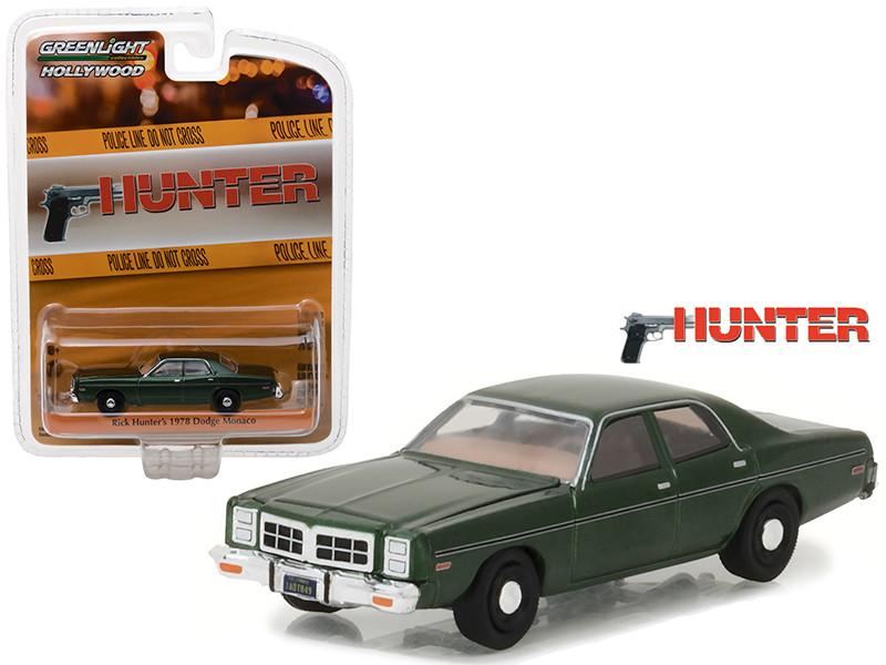 Rick Hunter's 1978 Dodge Monaco Hunter 1984-1991 TV Series Hollywood Series 18 1/64 Diecast Model Car Greenlight 44780 C