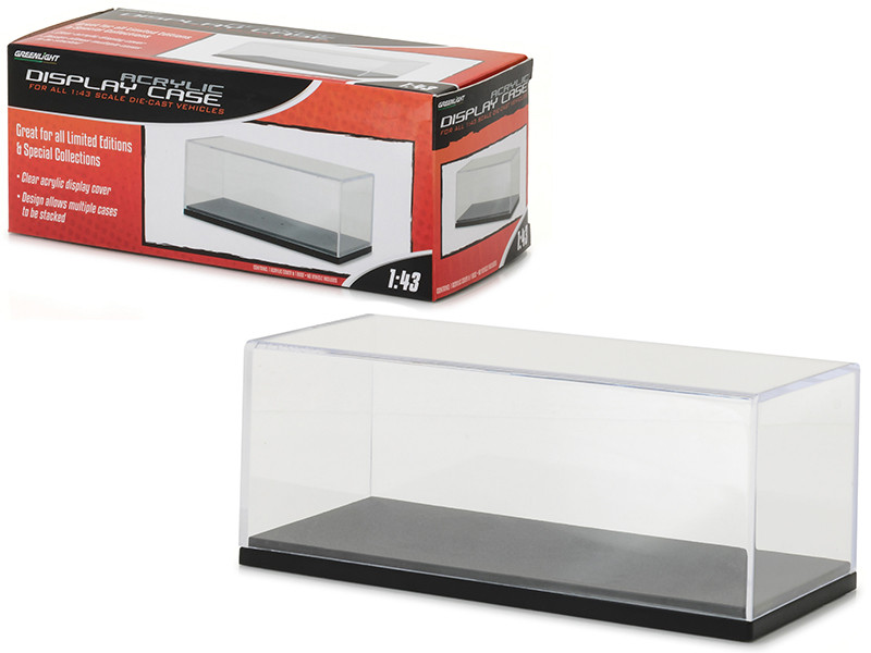 Acrylic Display Show Case with Plastic Base for 1/43 Scale Model Cars Greenlight 55023