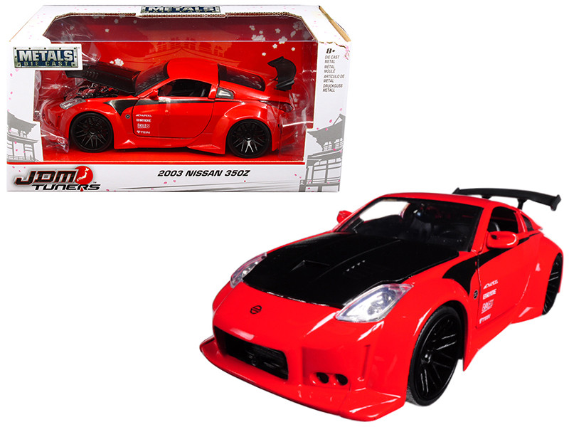 2003 Nissan 350Z Red JDM Tuners 1/24 Diecast Model Car Jada 99110