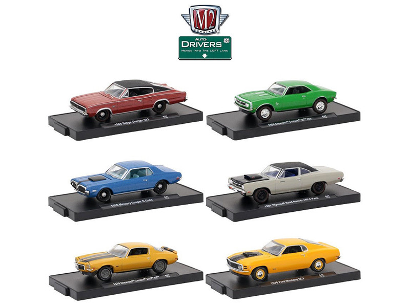 Drivers 6 Cars Set Release 47 In Blister Packs 1/64 Diecast Model Cars M2 Machines 11228-47