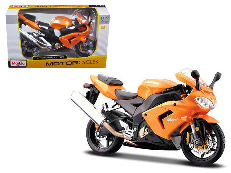 Kawasaki Ninja ZX 10R Orange Motorcycle 1/12 Diecast Model by Maisto