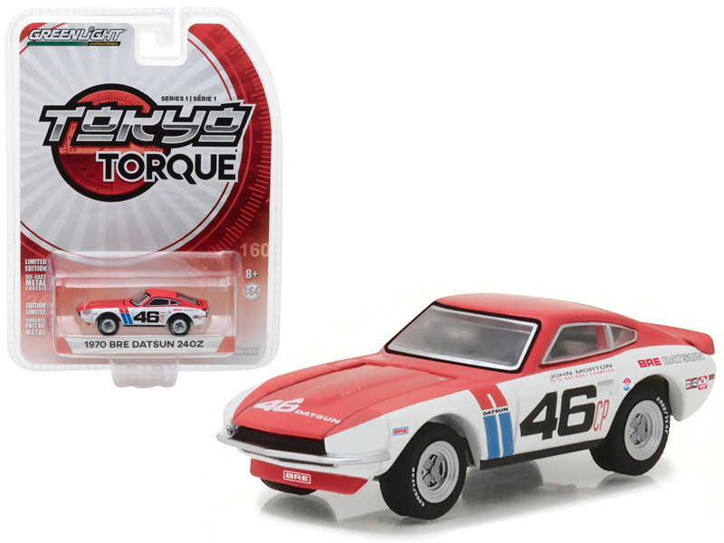 1970 Datsun 240Z #46 Brock Racing Enterprises BRE John Morton Tokyo Torque Series 1 1/64 Diecast Model Car Greenlight 29880 A