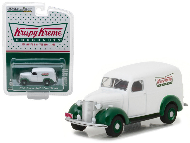 1939 Chevrolet Panel Truck Krispy Kreme Doughnuts Blue Collar Collection Series 3 1/64 Diecast Model Car Greenlight 35080 B