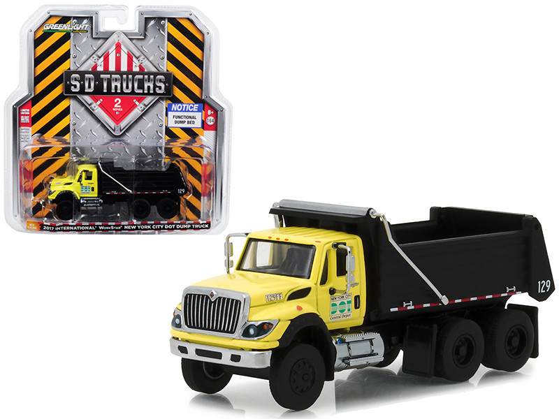 2017 International Workstar Construction Dump Truck New York City DOT SD Trucks Series 2 1/64 Diecast Model Greenlight 45020 A