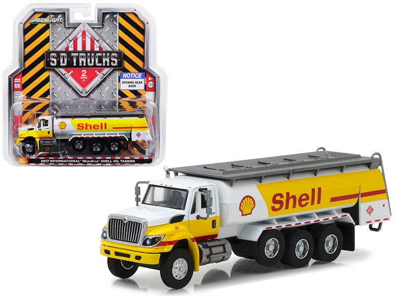 2017 International Workstar Tanker Truck Shell Oil SD Trucks Series 2 1/64 Diecast Model Greenlight 45020 C