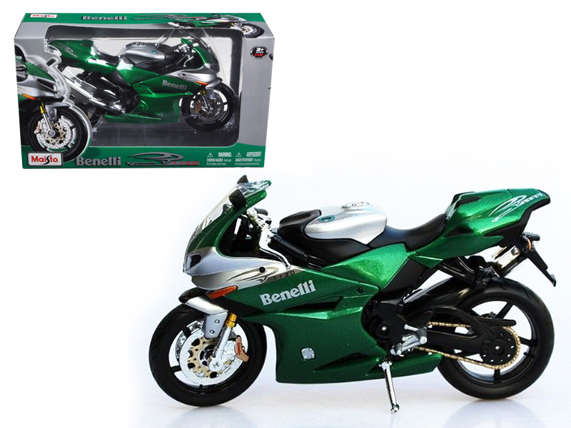 Benelli Tornado Tre 1130 Green/Silver Motorcycle 1/12 Diecast Model Maisto 31156